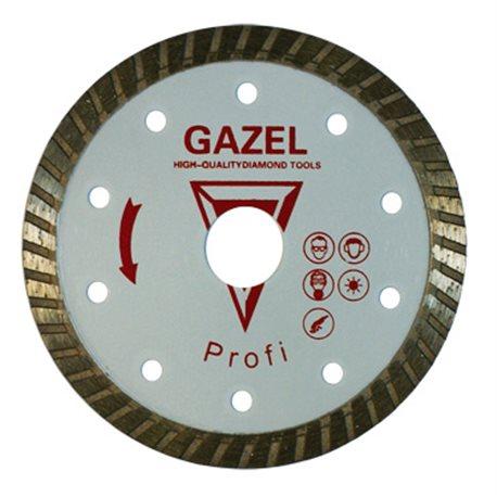 Диск алмазный 73097 Отрезной алмазный круг (GAZEL Turbo 230x2.6x10x22.2 строит. материалы 2,5) Profi сплит