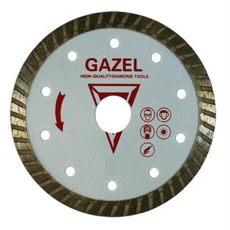 Диск алмазный 73439 Отрезной алмазный круг (GAZEL Turbo 230x2.6x8x22.2 строит. материалы 2) сухая MASTER сплит