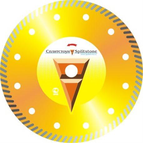 Диск алмазный 73420 Отрезной алмазный круг (Turbo 230x2,6x10x22,2 мрамор 50) сухая Premium сплит