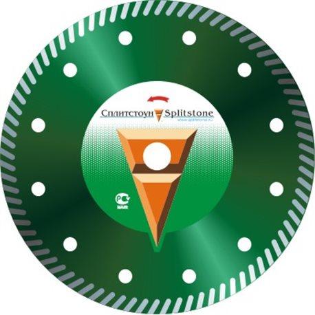 Диск алмазный 3105 Отрезной алмазный круг (под фланец) (Turbo 230x2,6x10x70 гранит 8) сухая Premium сплит