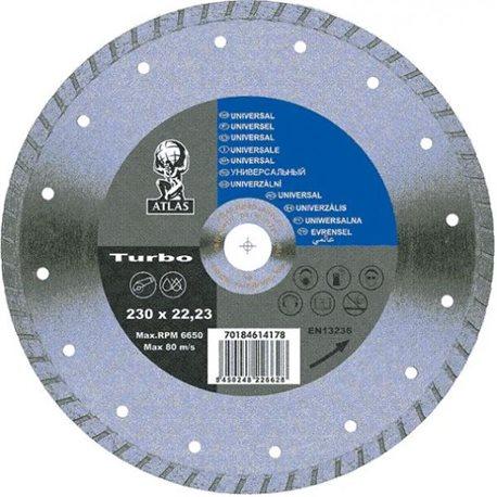 Диск алмазный ATLAS-TURBO 230-22,23